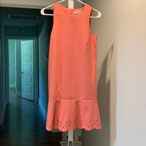 Laser cut drop waist dress
